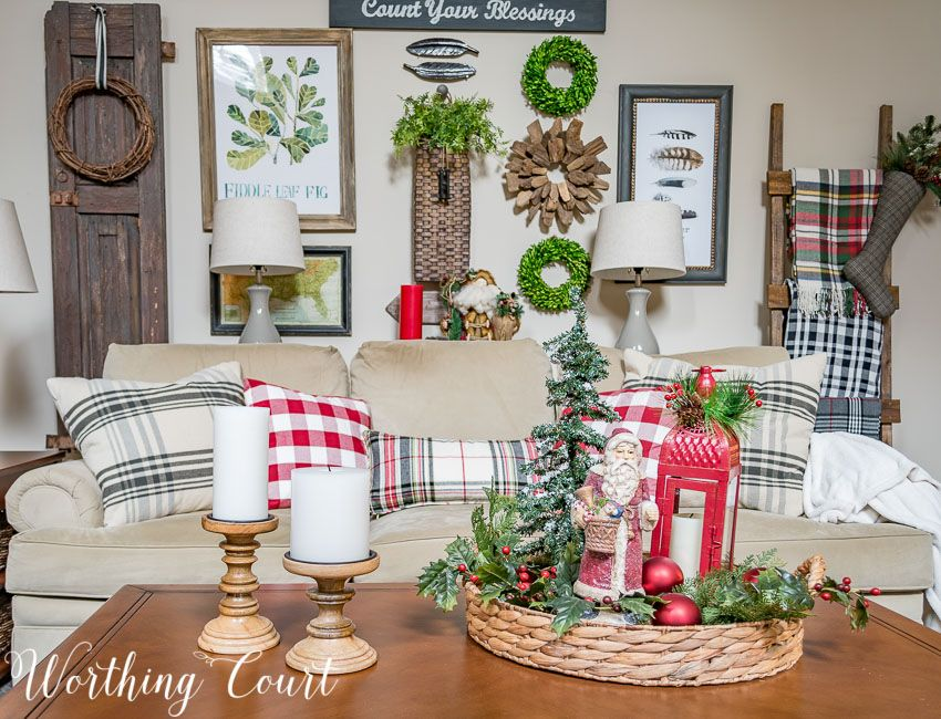 My Cozy Farmhouse Christmas Family Room Christmas coffee