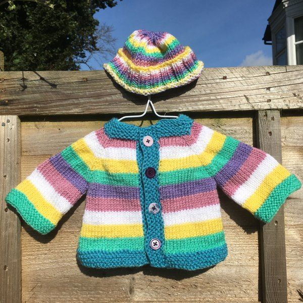 A simple and fuss free baby cardigan, ideal for a knitter ...