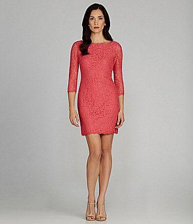 Adrianna Papell Lace Dress #Dillards http://www.dillards.com ...