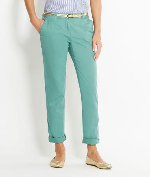Stitch Waist Twill Pants