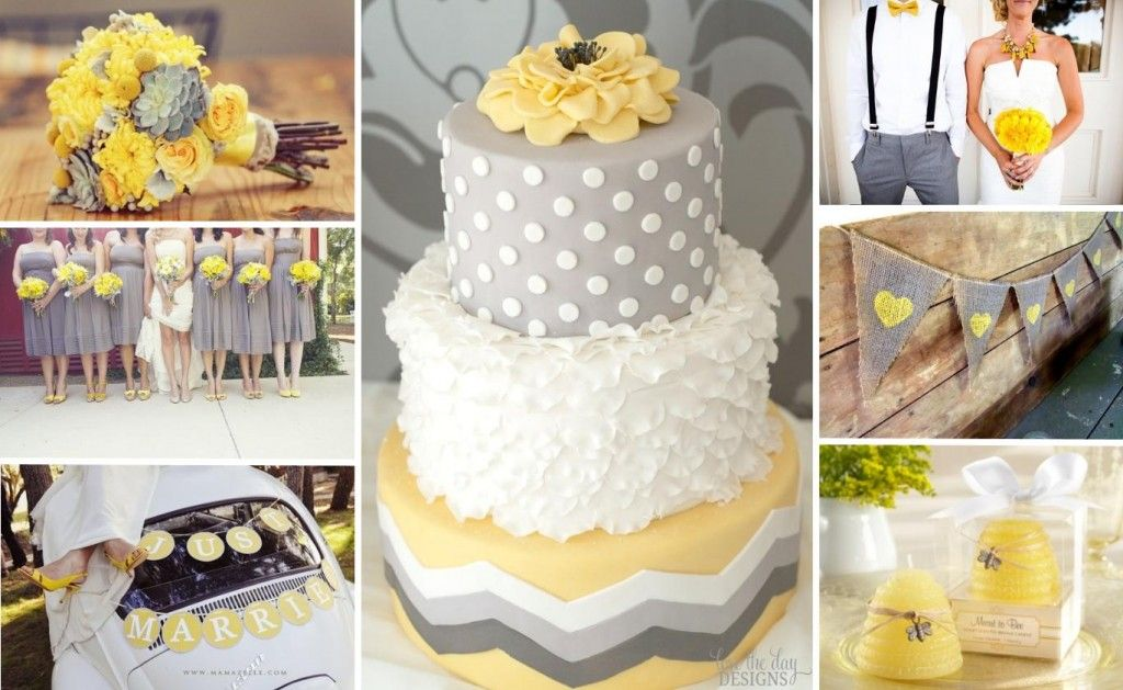 Gray And Yellow Wedding Theme Check Out The Burlap Flags With