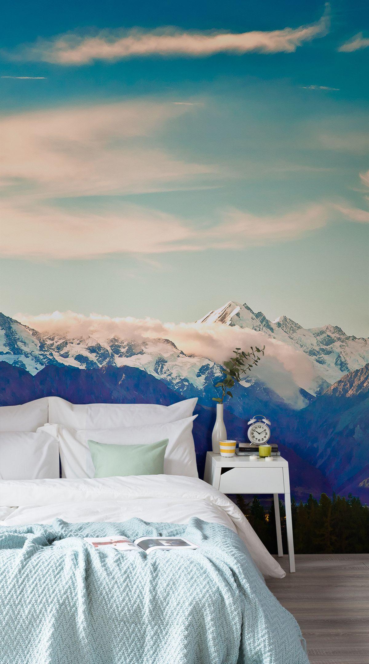Everest Landscape Wallpaper Mural Tapety, Ložnice a