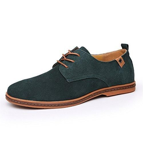 SHELAIDON Zapatos Planos con Cordones Hombre, Color Marrón, Talla 42