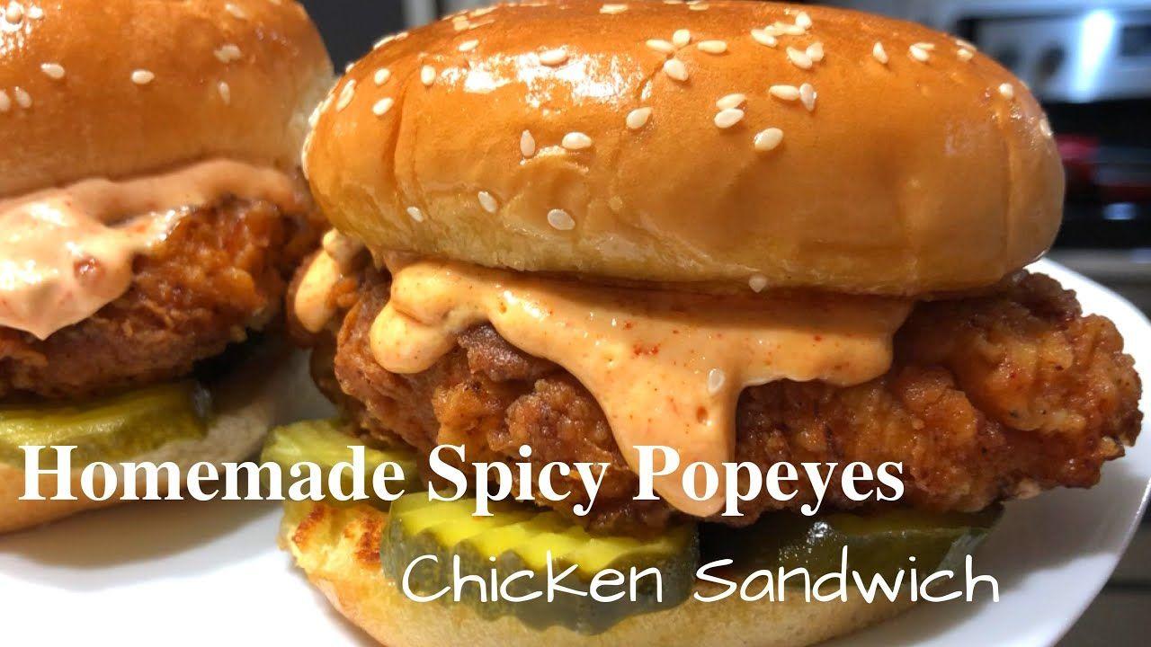 Homemade Spicy Popeyes Chicken Sandwich | That Gurl Lacey