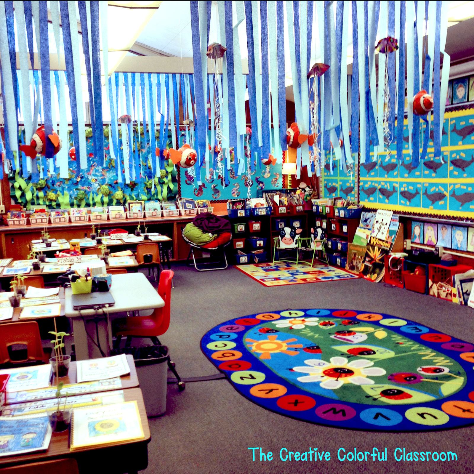 Classroom Research Ideas ~ The creative colorful classroom open house and our ocean