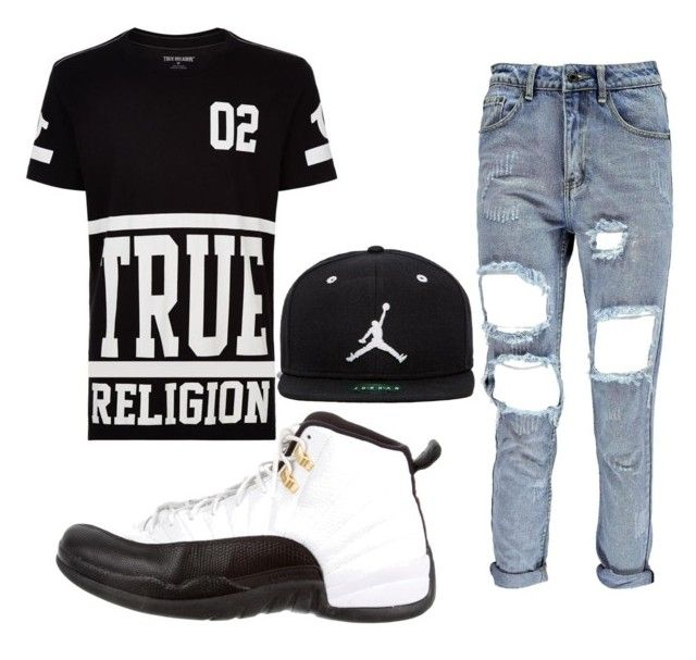 U0026quot;Black And White Men Outfitu0026quot; By Samariam On Polyvore Featuring True Religion NIKE Jordan Brand ...