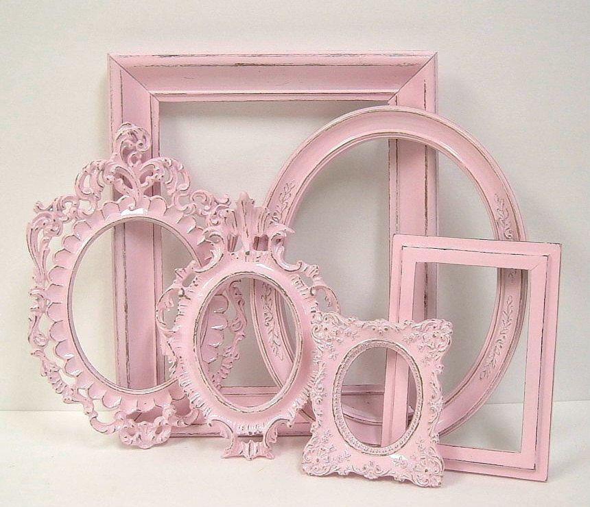 picture frames shabby chic frame set ornate frames gallery wall pink wedding nursery decor 84. Black Bedroom Furniture Sets. Home Design Ideas