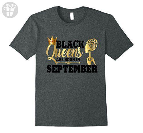 Mens Diva Black Queens September Birthday Shirt Gift Gold Melanin