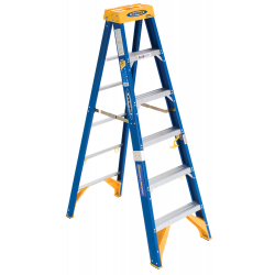 Werner Obel06 Fiberglass Electrician S Stepladder Jobstation 375 Lb 1aa Rating Step Ladders Ladder Fiberglass