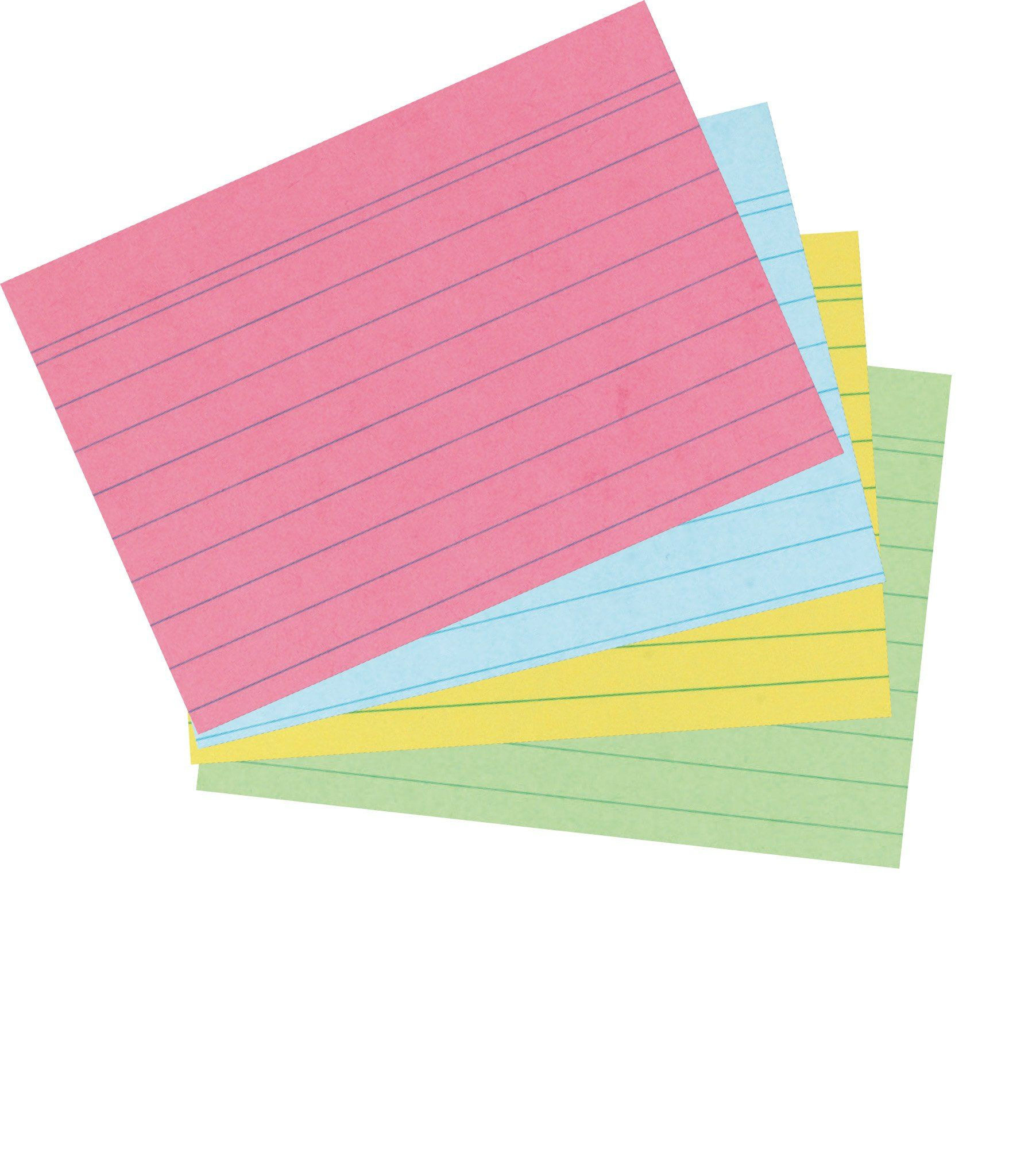 Herlitz A6 Ruled Record Card - Assorted Colours (200 Pieces): Amazon.co.uk: Office Products