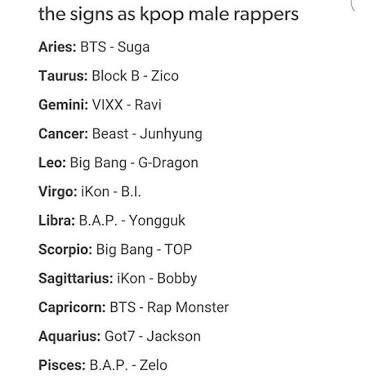 Zodiac Signs Related To Kpop K Pop Amino Bts Zodiac Signs Zodiac Zodiac Sign Traits