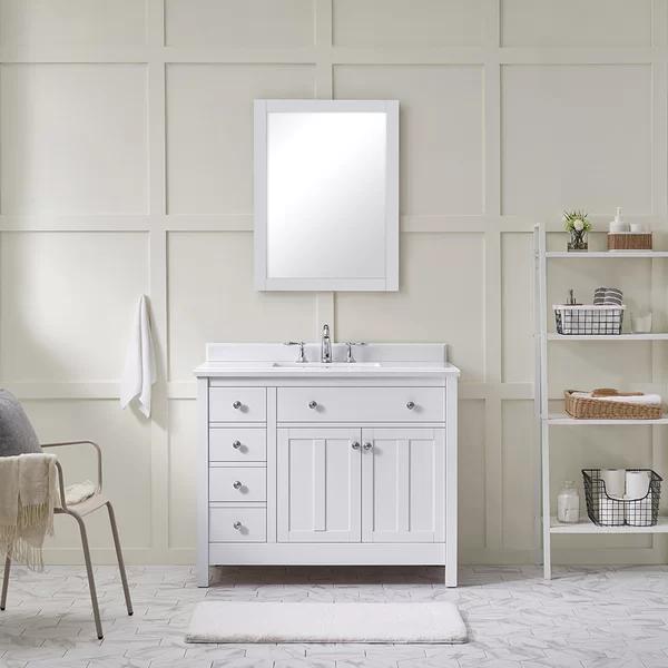 Ove Decors Newcastle 42 Single Bathroom Vanity Set Wayfair Bathroom Vanity Bathroom Sink Vanity Single Bathroom Vanity