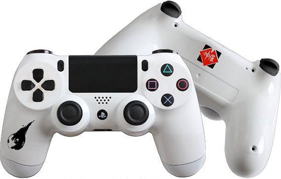 Final Fantasy Vii Inspired Custom Playstation 4 Controller Ps4 Finalfantasyvii Customcontrollers Dualshock4 Ps4 Controller Sony Playstation Ps4 Playstation