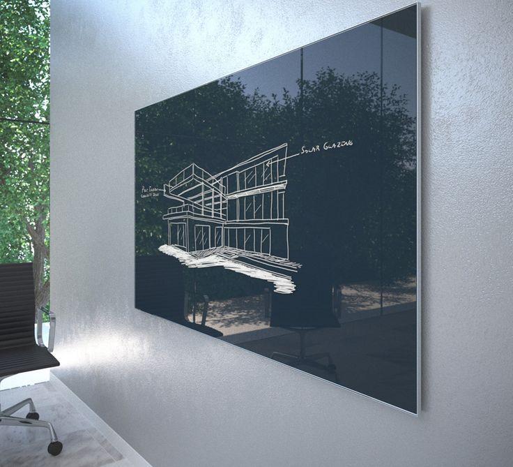Whiteboard I Glas Amazing Skrivtavla I Svart Glas With