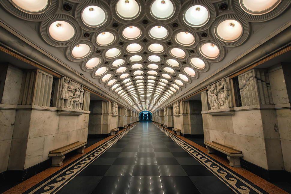 Estación de metro Elektrozavodskaya Moscú, Rusia