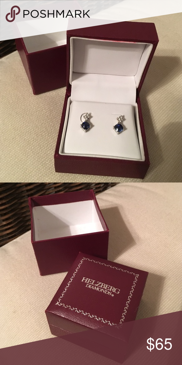 Helzberg Diamonds Shire Diamond Stud Earrings Never Worn Or Taken Out Of Box Real And Jewelry