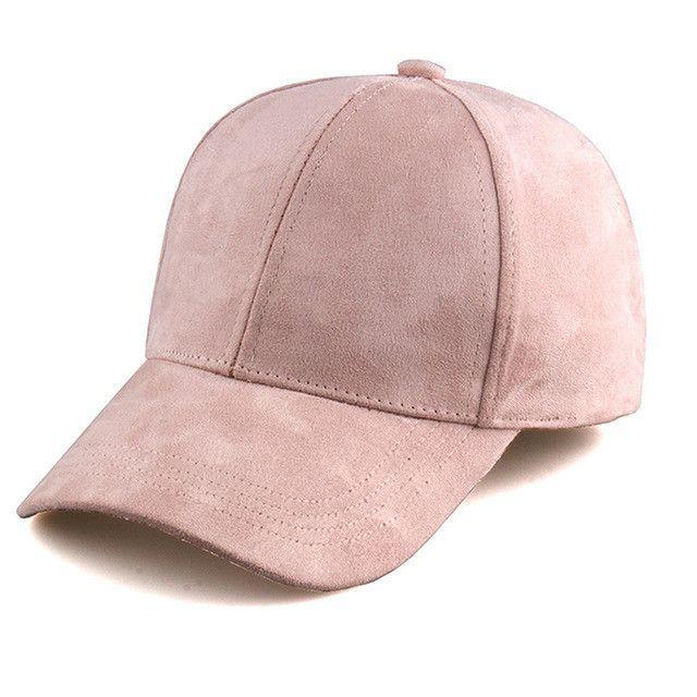 Suede Bone Gorras Masculino Solid Dad Hat