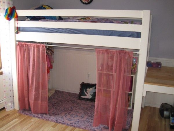Junior Bunk Bed With Curtains And Dress Area Bunk Bed Curtains Loft Bed Curtains Diy Loft Bed