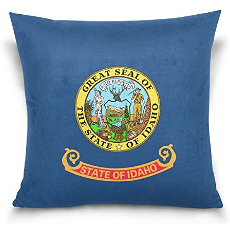 Donnapink Throw Pillow Case Idaho Flag