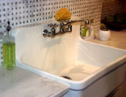 Cast Iron Sink With Built In Backsplash Vintage Sink Old Sink