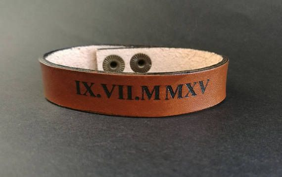 EXPRESS SHIPPING  Personalized Leather Bracelet Custom