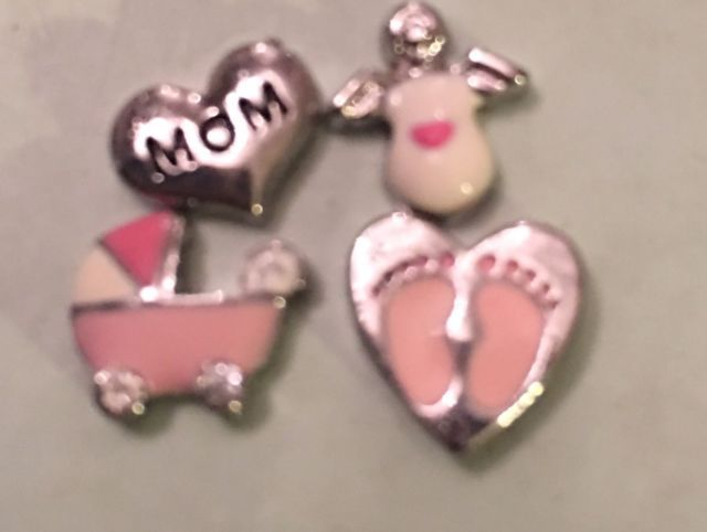 Origami Owl Charms Lot Baby Girl Mom Carriage Origami Owl Charms