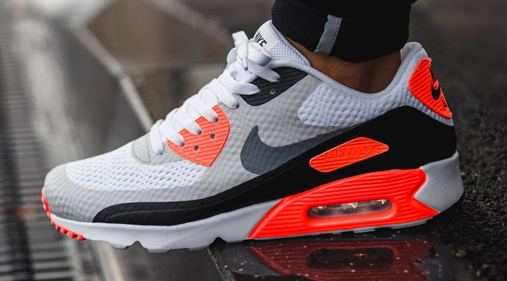 nike air max 90 womens running shoe infrared photography