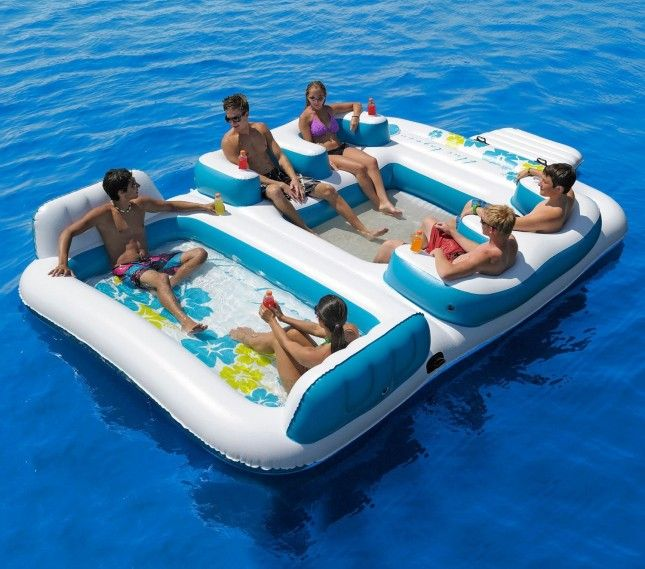 22 Ridiculously Awesome Pool Floats Inflatable Floating Island Lake Floats Floating Island Raft