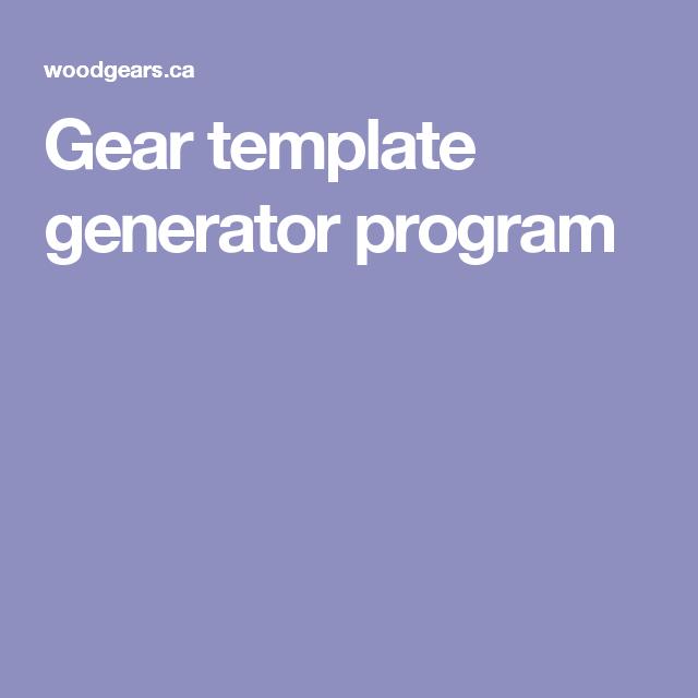 Gear template generator program | toys | Pinterest | Generators ...