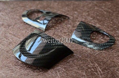 Carbon Fiber Steering Wheel Cover For Mini Cooper R56 S R60 S JCW 3pcs
