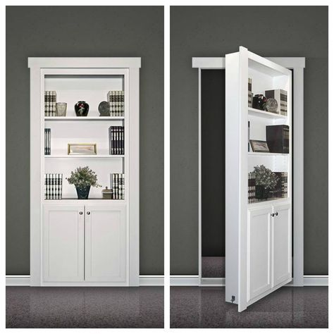 a flush mount murphy door kit looks like a built in bookcase when the door is closedclick to enlarge - Built In Bookshelves Kit