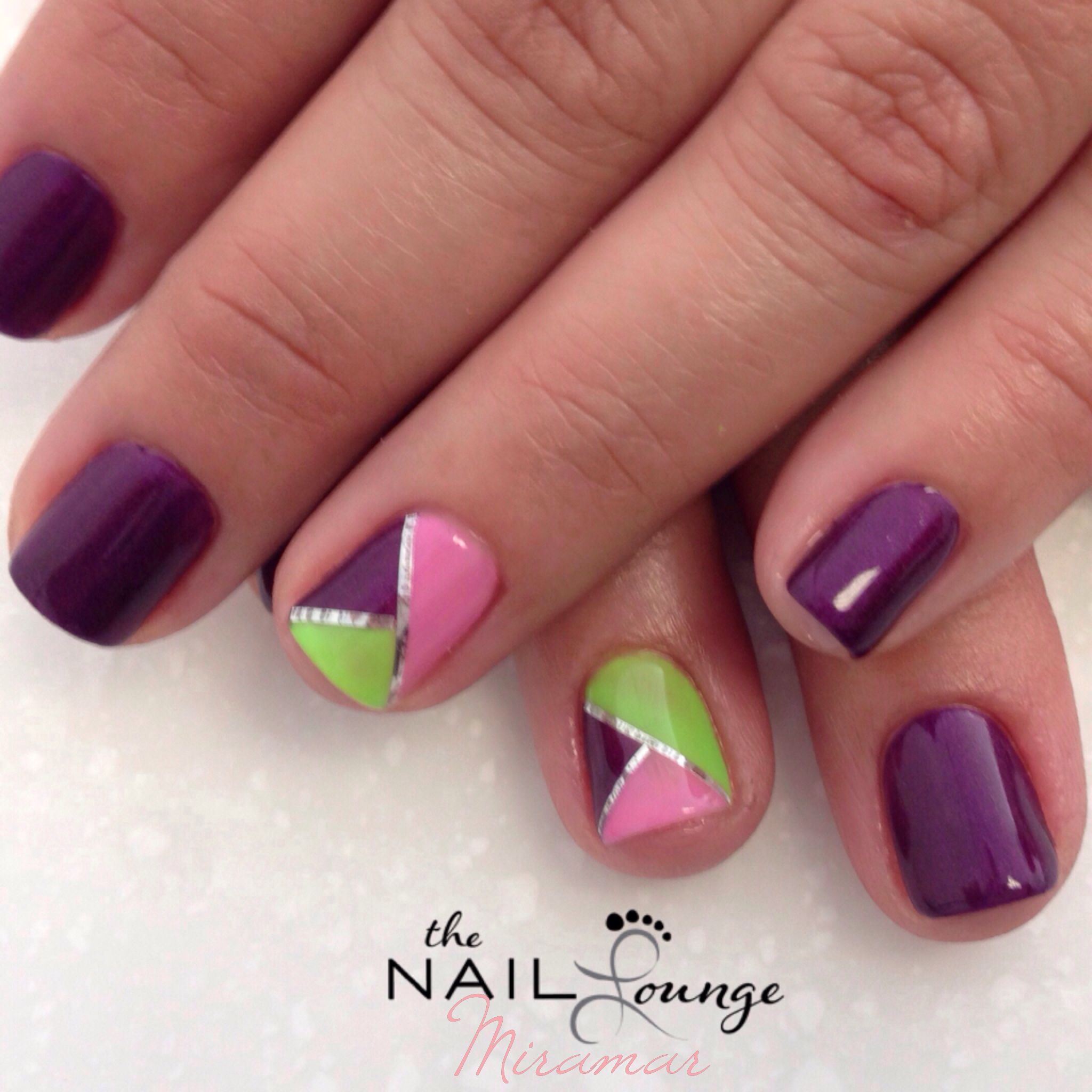 Gel nail art design. @The_Nail_Lounge_Miramar | Nail Art | Pinterest