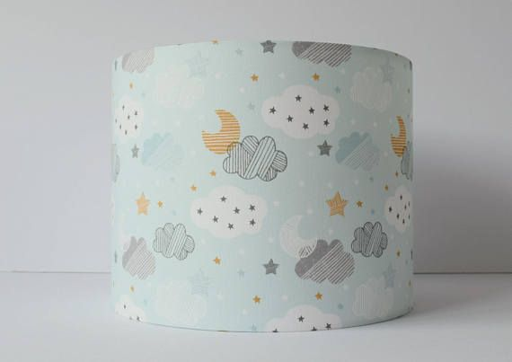 Blue Cloud Lampshade In A Pale