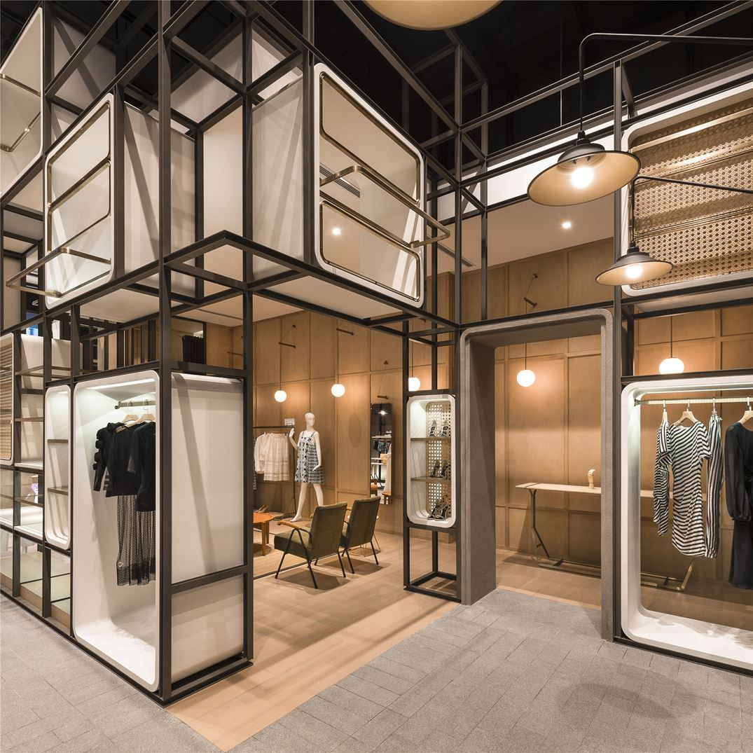 Chuang x yi lukstudio store retail store interiors pinterest shop retail design and for Fashion retail interior design