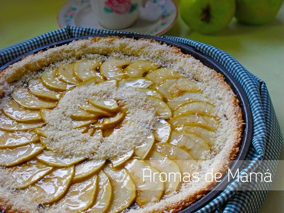 Tarta de manzanas y membrillos