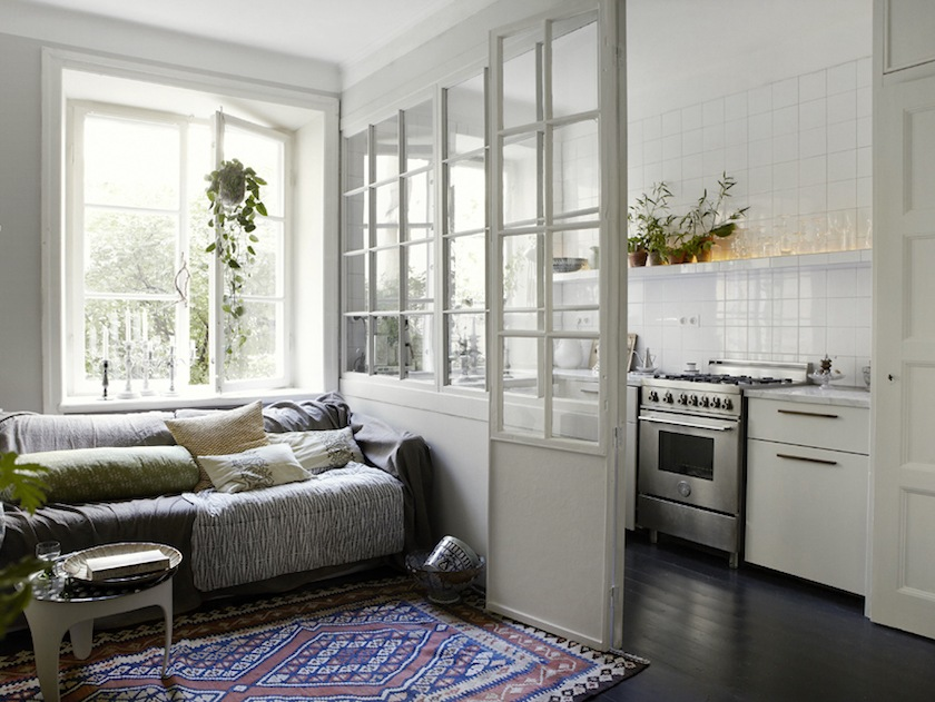 Pin By Cheryl Mathews On Apartment Therapy Small Living Rooms Living Room Kitchen Separating Rooms