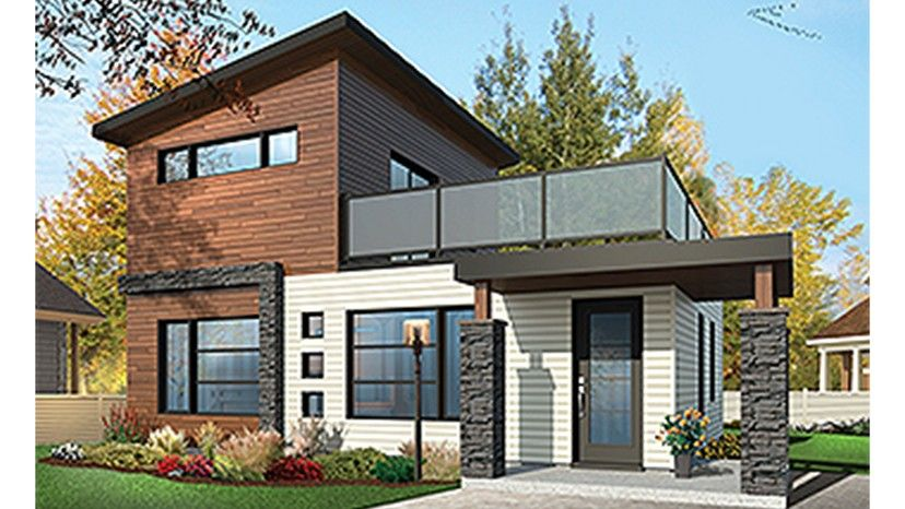 Home plan is a gorgeous 924 sq ft 2 story 2 bedroom 2 bathroom plan influenced by contemporary modern homes style architecture