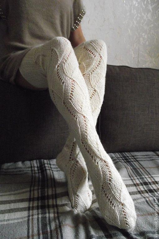 купить чулки вязаные белый лотос белый чулки вязаные чулки