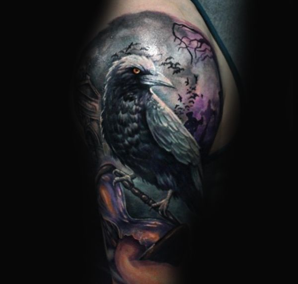 raven crow half man - photo #25