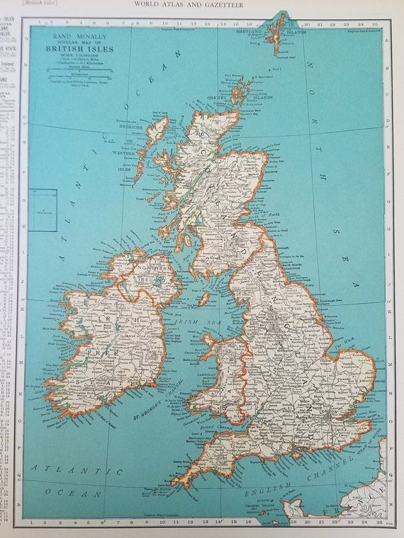 Map Of England France And Spain.Europe Map British Isles Map Ireland Scotland England Spain France