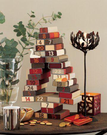 un calendrier de l avent fait avec des bo tes d allumettes allumette calendrier de et avent. Black Bedroom Furniture Sets. Home Design Ideas