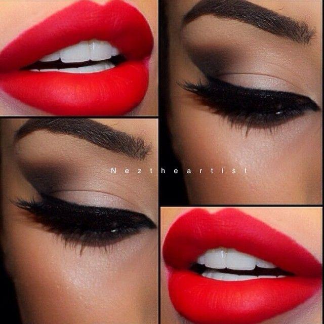 Neztheartist On Instagram A Natural Smokey Eye With Bold Lips