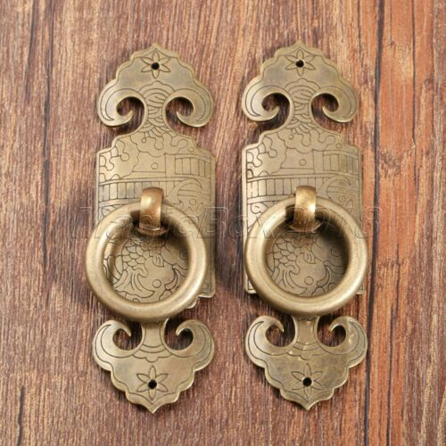 Brass Chinese Dynasty Style Furniture Hardware Door Knock Pull Handle Antique 636946621551 Ebay In 2020 Door Handles Vintage Furniture Hardware Brass Door Handles