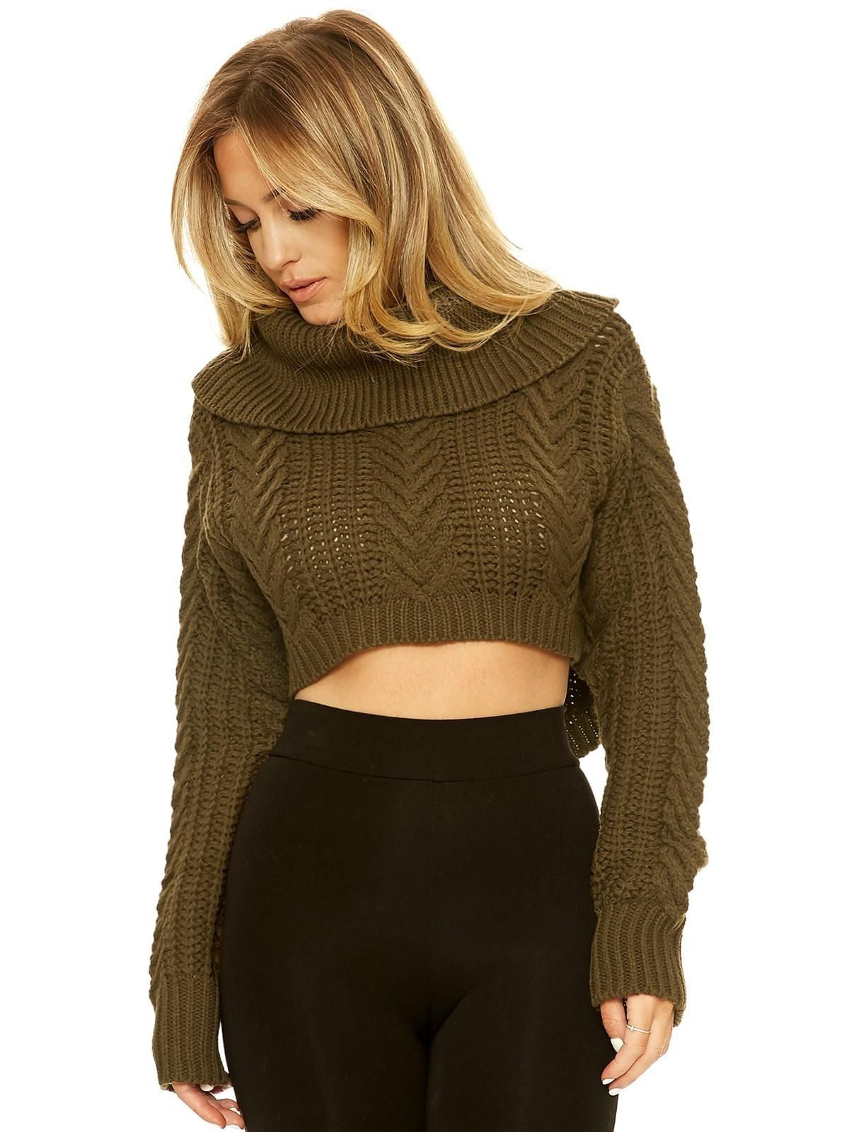 Just Own Knit Cropped Sweater - New Arrivals Nakedwardrobe | dream ...