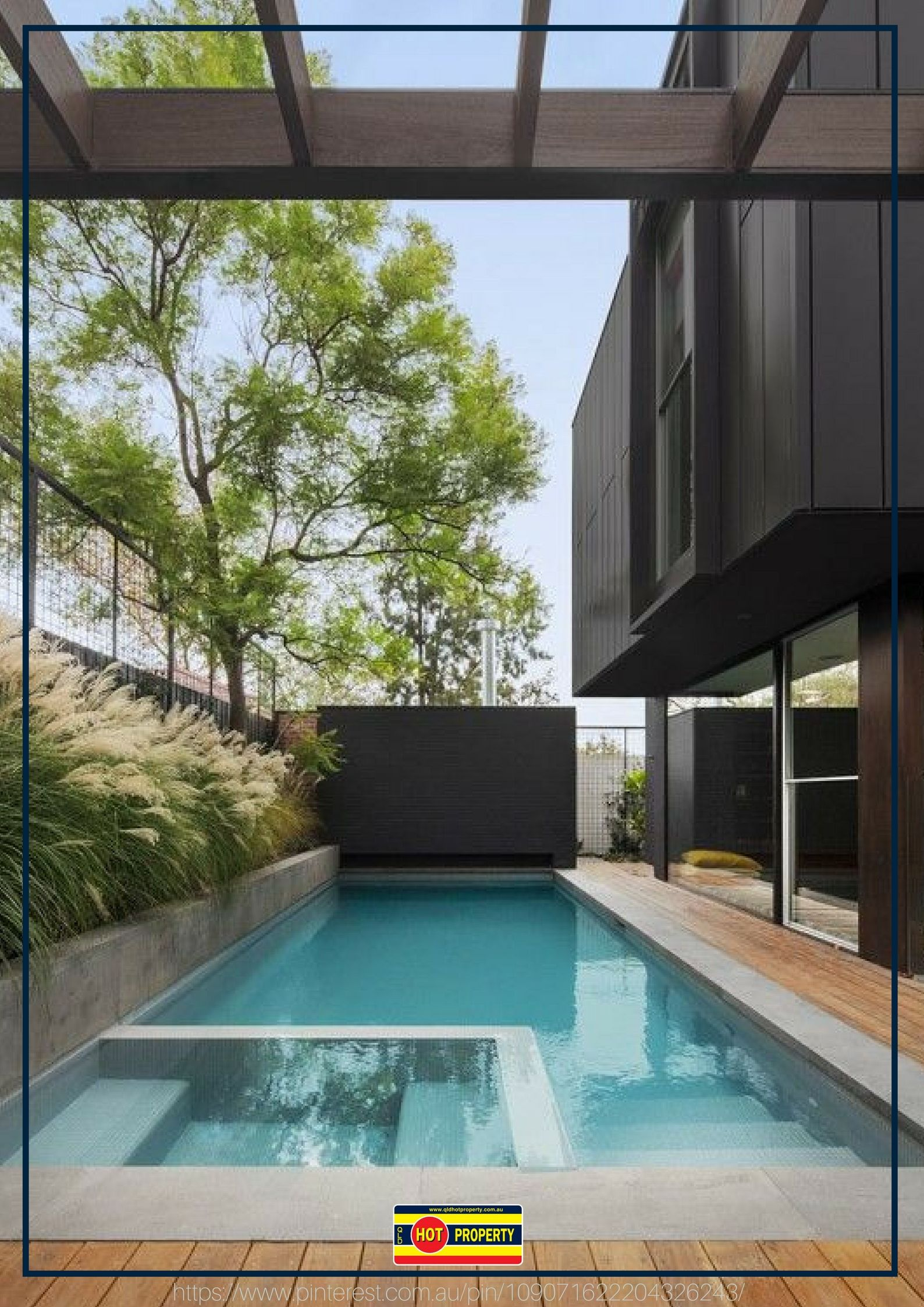 A Luxury Pool With Beautifully Clear Water Modern Pools Pool Landscape Design Pool Houses
