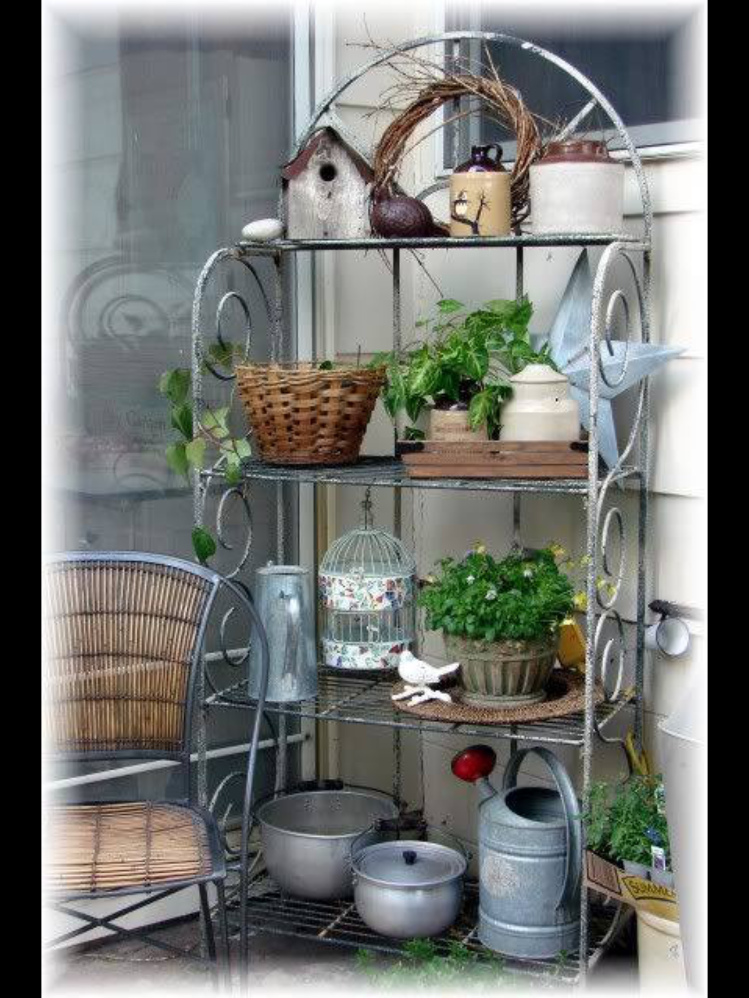 Pin By Jakagr On Gardens With Images Bakers Rack Decorating