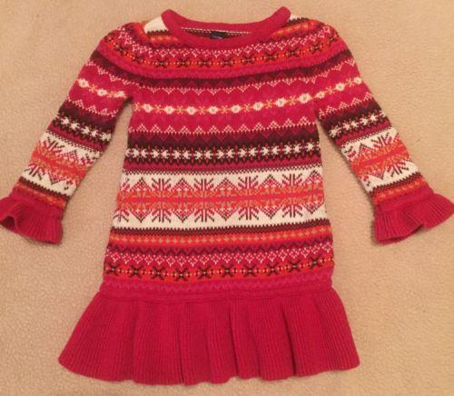 toddler-baby-girl-fall-winter-fair-isle-sweater-dress-gap-red-knit ...