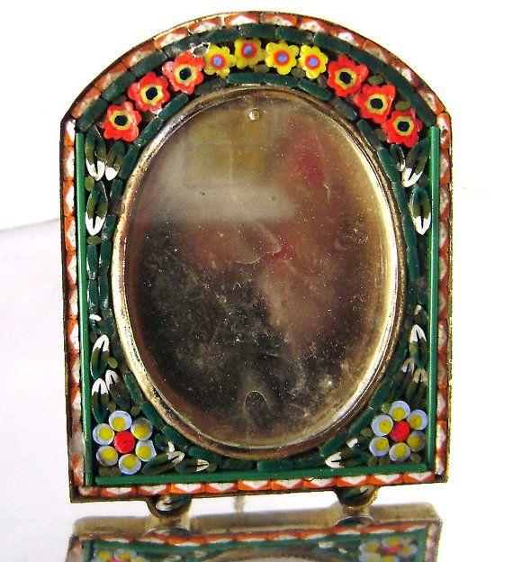 Vintage Micro Mosaic Tiny Miniature Frame Multi by JustSparkles, $39.00