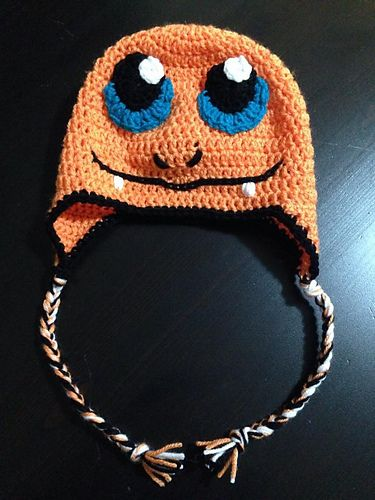 Ravelry  Crochet Charmander Hat Pattern pattern by Megan Unay ... b60fac6fcda