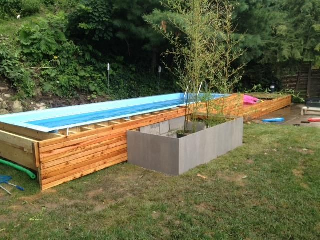 caption alignalignleft modular lap pool componentscaption modular above ground lap pool construction is straightforward thus allowing for greater